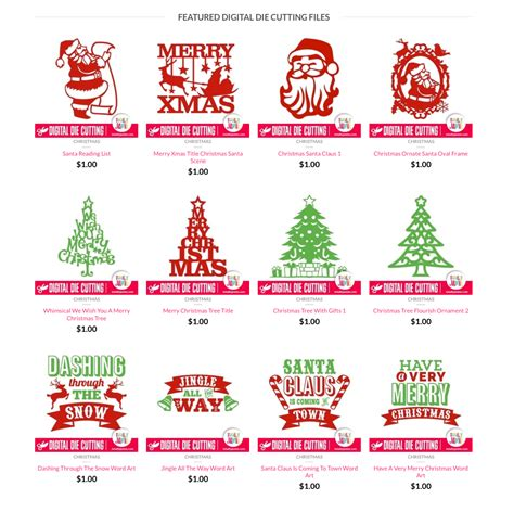 The Grinch Christmas Tree Decorations by Christmas Digital Die Cutting Files Totallyjamie Svg