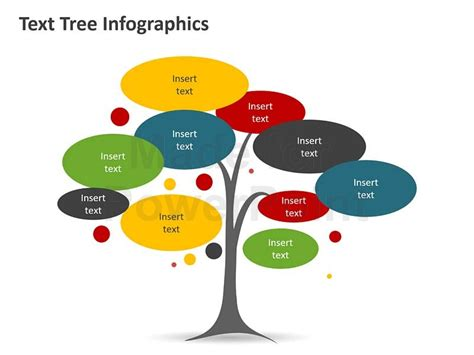 tree diagram infographic editable powerpoint template