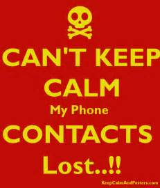 I Lost My Phone Contacts
