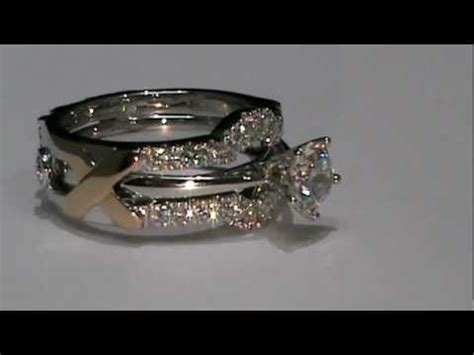 18k white gold custom design wedding ring enhancer