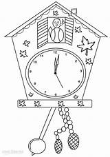 Clock Coloring Pages Cuckoo Germany Face Printable Cool2bkids Colouring Clocks Craft Grandfather Sheets Smart Template Alarm Drawing Christmas Longcase Crafts sketch template