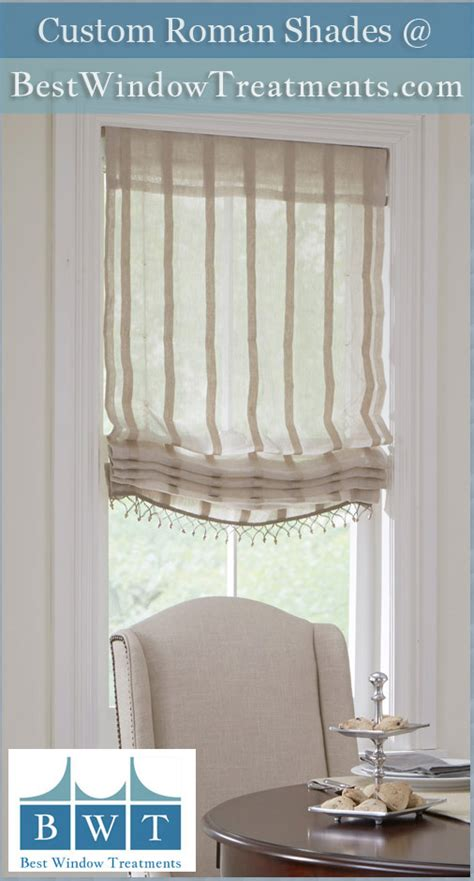 custom fabric roman shades rollup blinds