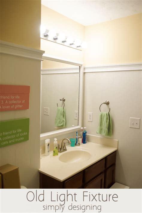 Installing A Bathroom Light Fixture by Install A New Bathroom Light Fixture