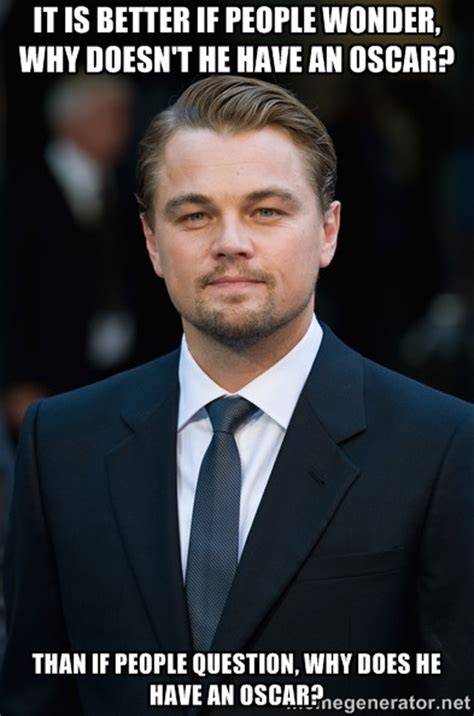 Dicaprio Meme - image 710589 leonardo dicaprio gets snubbed by oscar know your meme