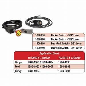 Rocker Switch Kit  Exhaust Brake - 3  4 Manual Lever