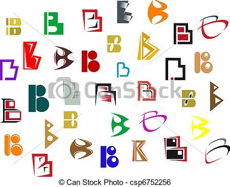 set of alphabet letters and icons for alphabet design alphabet letter b vector clipart instant 39852