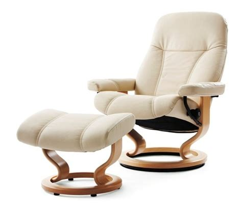 stressless consul large recliner chair and stool offer