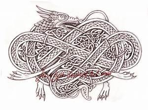 Knotwork Dragon by Feivelyn on DeviantArt