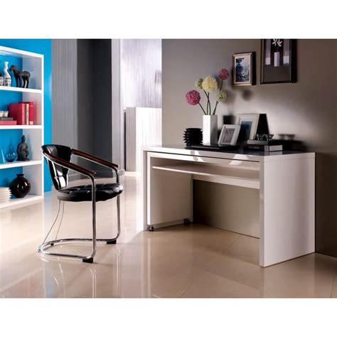 Bureau Laqué Blanc Bureau D Angle Amovible Design Laqu 233 Blanc Belinda