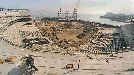 san francisco giants ballpark construction pictures