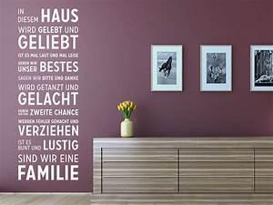 In Diesem Haus : wandtattoo in diesem haus wird von klebeheld de ~ Orissabook.com Haus und Dekorationen