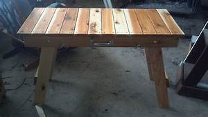 woodworking folding table plans woodproject