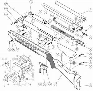 Product Schematics For Beeman R11 Mkii Air Rifle