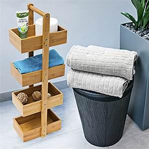 Holz Für Feuchträume : relaxdays bambus badregal h x b x t 75 x 25 x 18 cm praktisches badezimmerregal als ~ Markanthonyermac.com Haus und Dekorationen