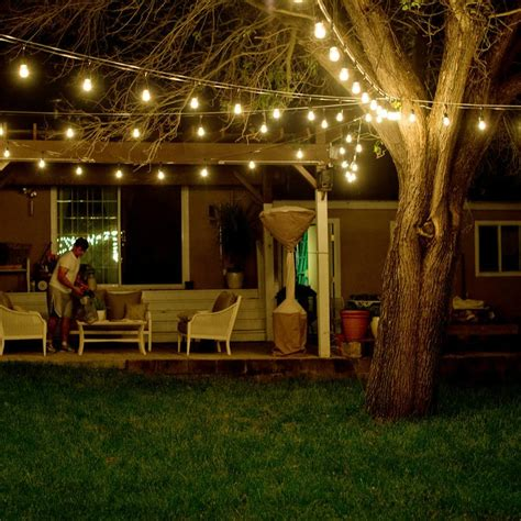 outdoor waterproof commercial grade patio string lights
