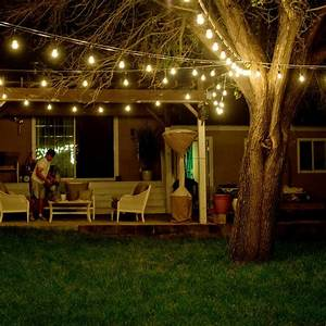 Outdoor waterproof commercial grade patio string lights for Outdoor patio string lights commercial