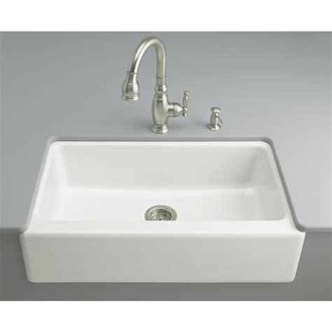Kohler Enameled Cast Iron Sink Color Sles by Shop Kohler Dickinson 22 12 In X 33 In White Single Basin