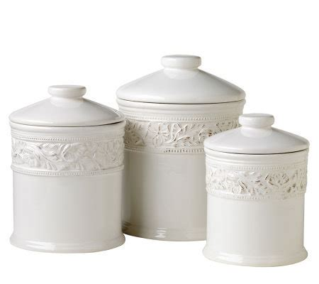 Country Cupboard Pfaltzgraff by Pfaltzgraff Country Cupboard 3 Canister Set Qvc