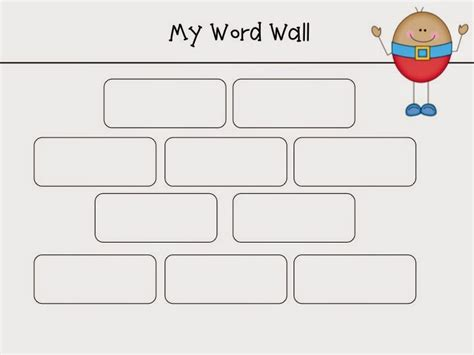 word wall template and wishes humpty dumpty word walls