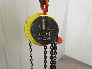 Cm Cyclone Model S 1 Ton Manual Chain Hand Pull Hoist 7 U0026 39  6