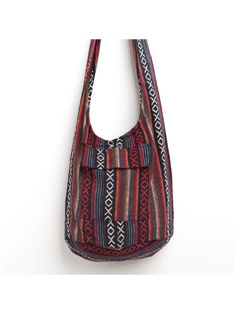 hippie sling crossbody bag  thai elephant print