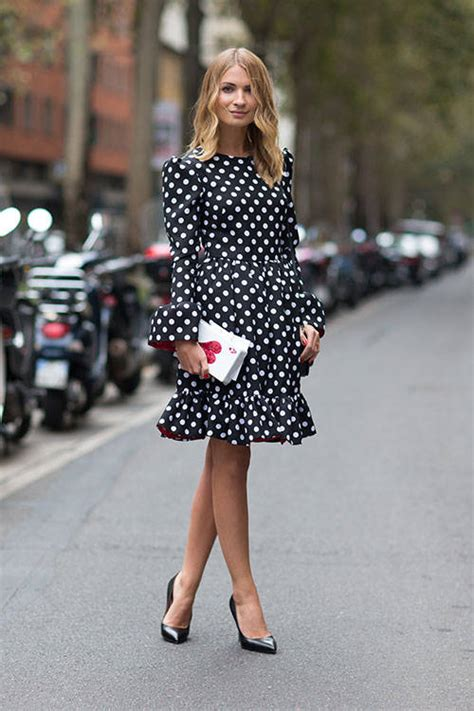 style checks  stunning polka dot dresses