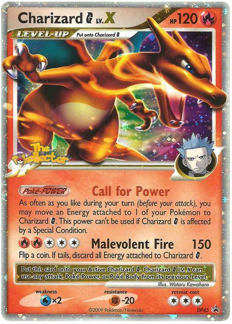 charizard  lvx dp black star promos  pokemon card
