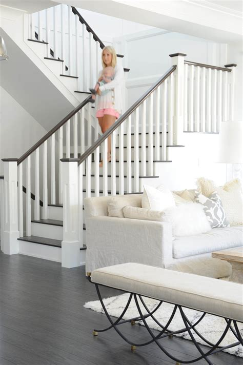 Stair Banister Ideas by Get The Look Fresh White Home With Pops Of Pink In 2019