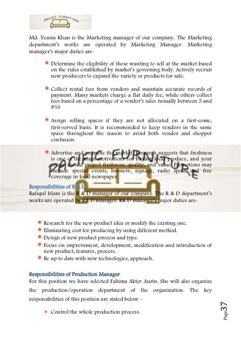 business plan sle on furniture