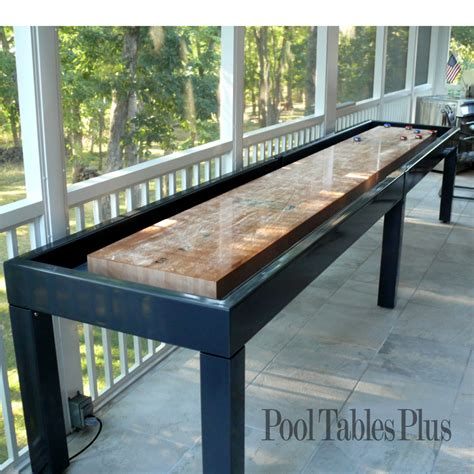 making a shuffleboard table outdoor shuffleboard table