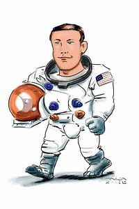Free coloring pages of neil armstrong