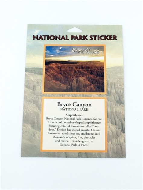 passport sticker bryce canyon national park