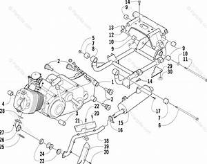 Arctic Cat Atv 2005 Oem Parts Diagram For Engine And Related Parts