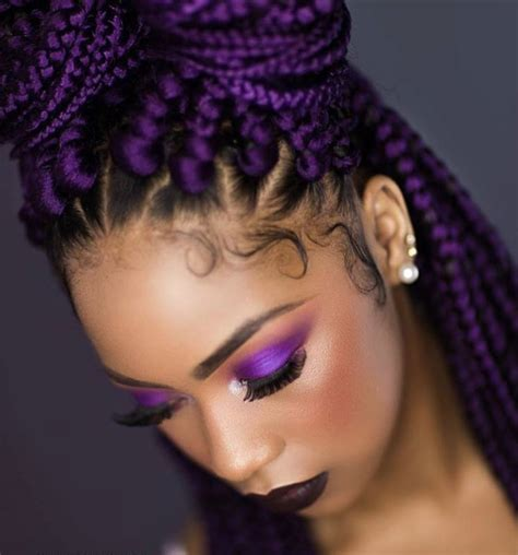 Yass Purple Box Braids By Queenkeedy Black Hair