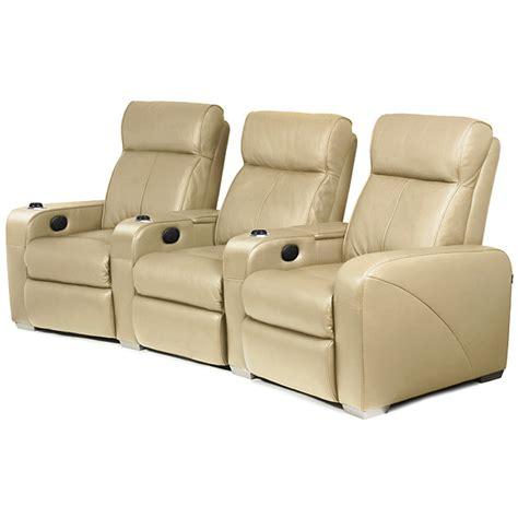 premiere home cinema seating 3 seater beige cinema