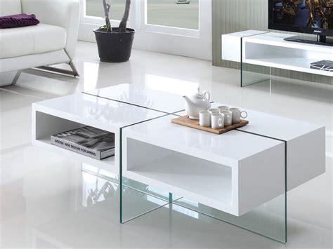 bureau laqué blanc pas cher table basse mdf laqué et verre trempé blanc