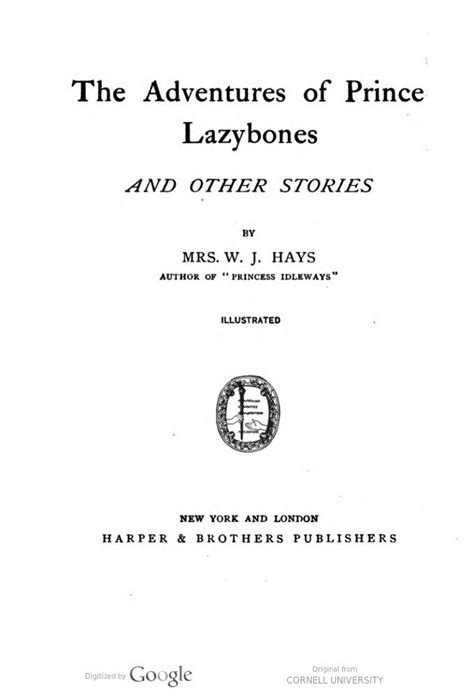 The adventures of Prince Lazybones, and other stories