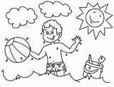 Coloring Beach Pages Ball Boy Playing Printable Sunset Drawing Vacation Boardwalk Summer Boys Colornimbus Getcolorings Getdrawings Template sketch template