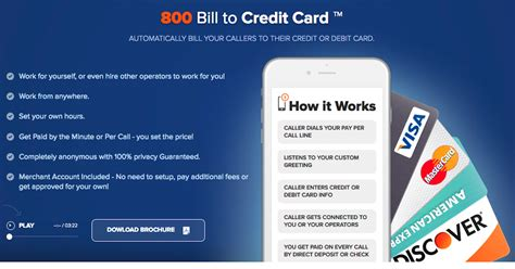 Instant approval does not mean guaranteed approval. PayPerCall.com - 800 Bill to Credit Card ® | 800 Pay Per Call Line