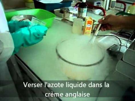 azote liquide cuisine crème glacé à l 39 azote liquide