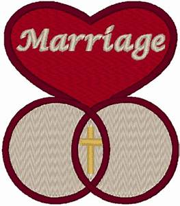Marriage Symbol Embroidery Design