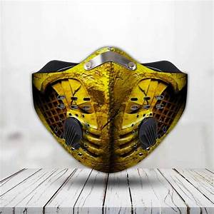 Mortal Kombat Scorpion Filter Activated Carbon Face Mask