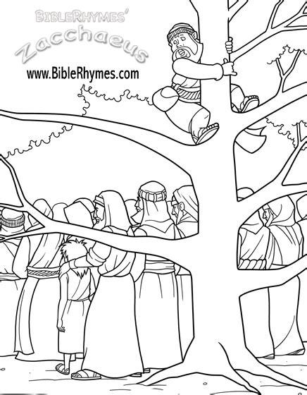 zacchaeus cut  coloring coloring pages
