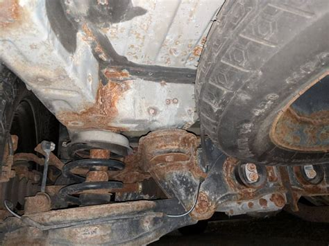 fixed rusted rear subframe mount  pics page
