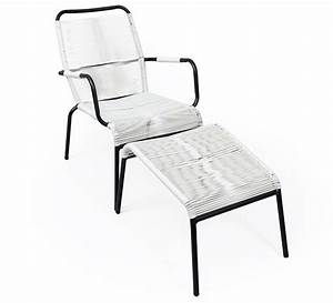 Fauteuil De Jardin Blanc : fauteuil de jardin fil blanc repose pieds cancun 89 salon d 39 t ~ Teatrodelosmanantiales.com Idées de Décoration