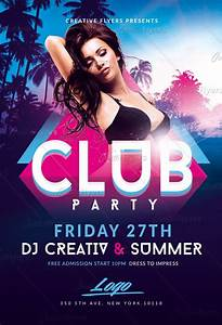 Summer Club Party Flyer Templates Psd