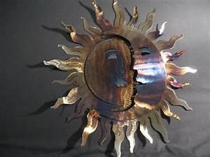 Metall Sonne Für Hauswand : 33 verbl ffende ideen f r wanddeko aus metall ~ Markanthonyermac.com Haus und Dekorationen