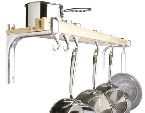 Pan Shelf With Hooks master class wall mounted wooden pot saucepan pan storage
