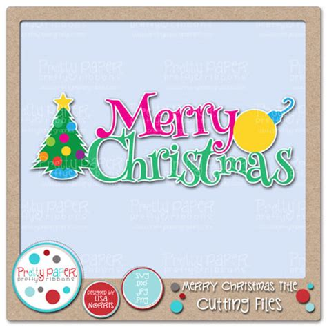 merry christmas titles pretty paper pretty ribbons graphics