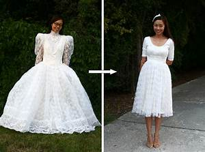 diy vintage wedding dress to a cocktail dress life is With diy wedding dress